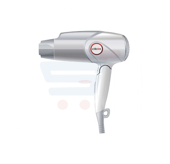 Clikon Hair Dryer 1600W Silver & White - CK3233