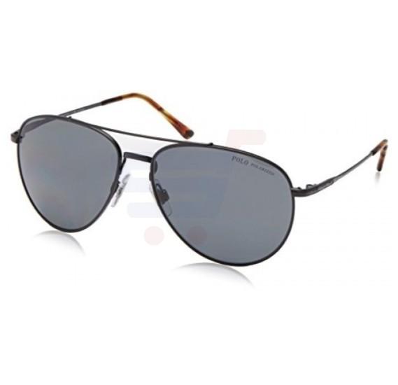 Ralph Lauren Aviator Black Frame & Black Mirrored Sunglasses For Men - PH3094-926781