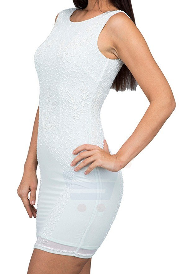 TFNC London Simple Embellished Party Dress Mint - ANQ 07770 - L