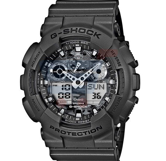 Casio G Shock Watch For Men Black Military Edition Ga 100cf 8a