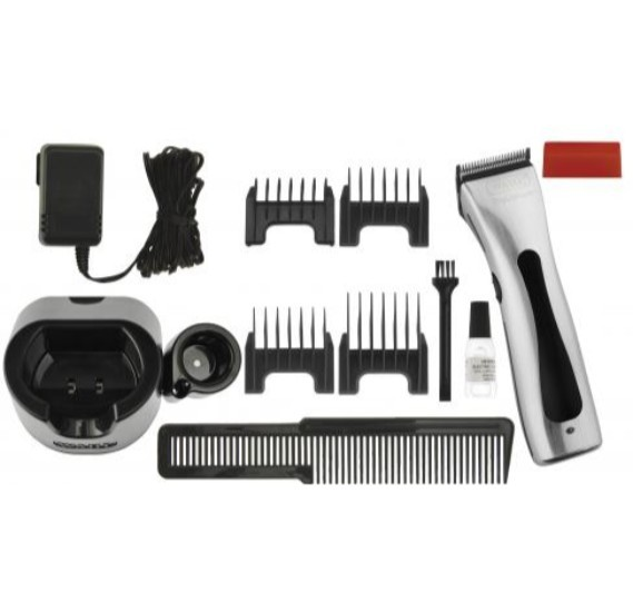 WAHL Pro-Lithium Beretto 4212-0472 Silver Professional Cordless Hair Clipper