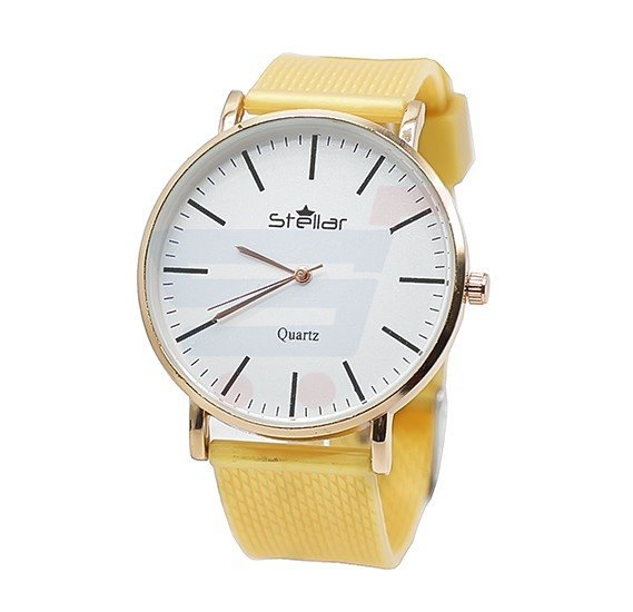 Stellar Luxury Quality Quartz  Watch for Women And Men Yellow-ST101