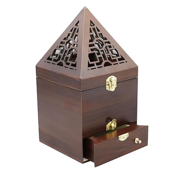 Piramid Wooden Manual Burner For Bakhoor - OS-PWMB-1324