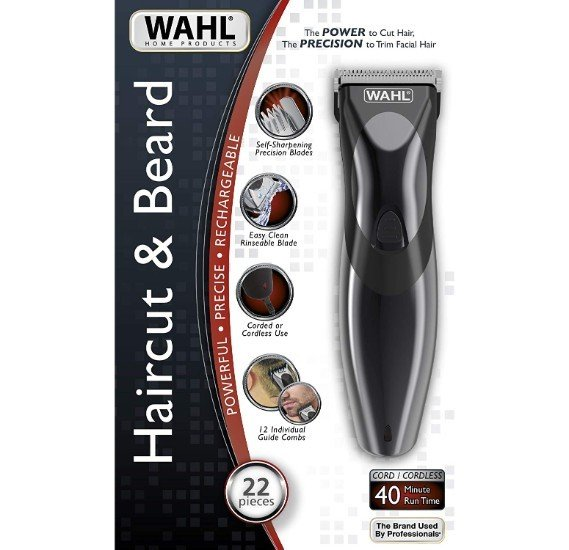 WAHL 9639 Rechargeable Haircut & Beard Trimmer - Black