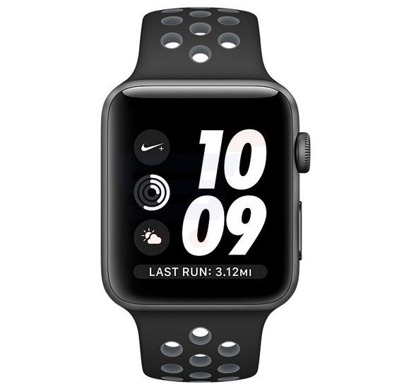 Apple Watch Series 3-42MM MQL42 Nike Sport Band-Anthracite/Black