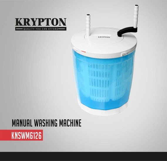 Krypton 2 IN 1 Portable Eco Manual Washing Machine, KNSWM6126