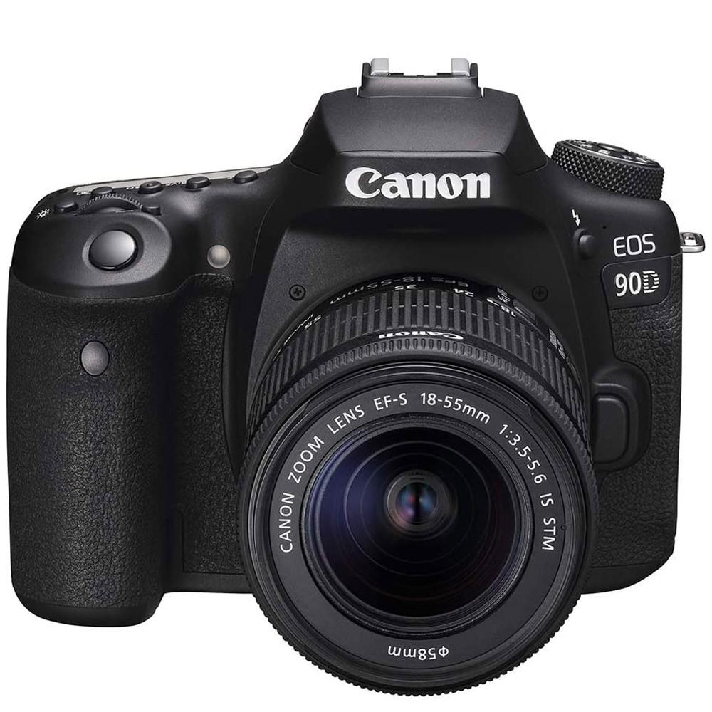 Canon 90D Digital DSLR Camera with 18-55 IS STM Lens, 32.5 MP, Black