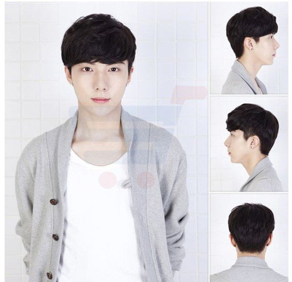 Korean lover Style Fashion Cool Men Fluffy Short Curly Wig, BLJ-3