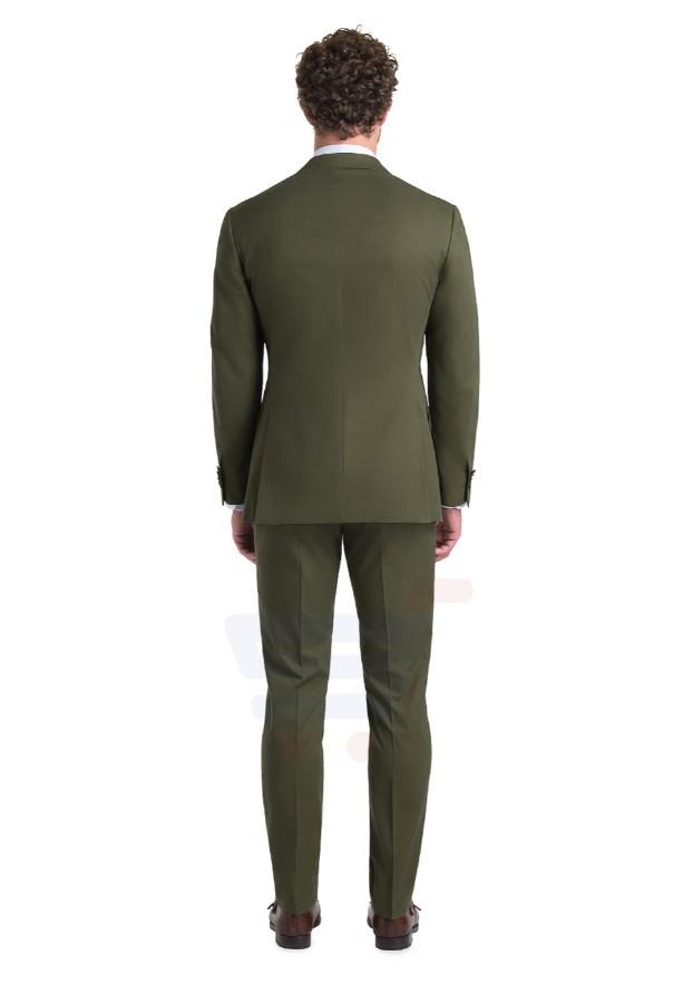 D & D Olive Cotton Suit Hero - 55011 - XXXL - 44