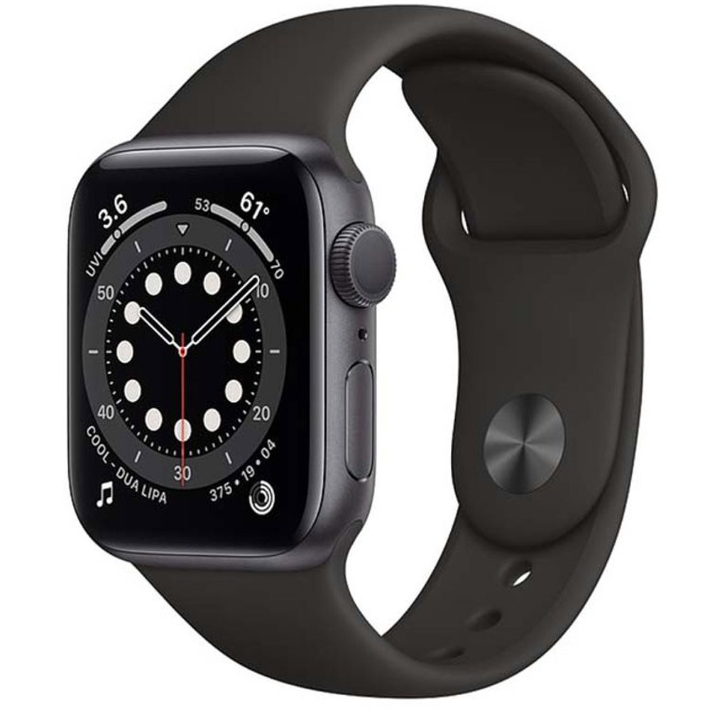 Apple Watch Series 6-40 mm GPS Space Gray Aluminium Case with Black Sport Band
