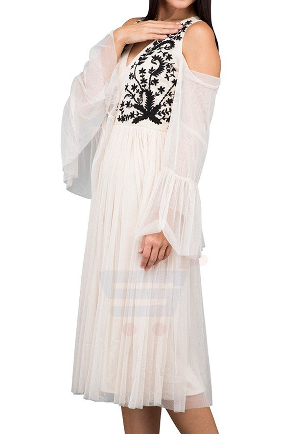 TFNC London Bertie Maxi Maxi Dress Cream - LNB 37575 - M