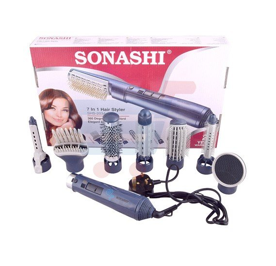 Sonashi  7 In 1 Hair Styler SHS2034- Blue