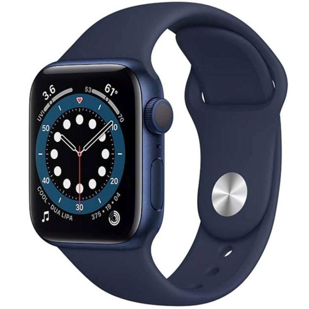 Apple Watch Series 6-44 mm GPS Blue Aluminium Case with Deep Navy Sport Band