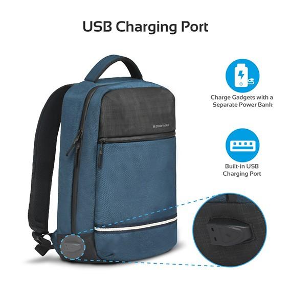 Promate Travel Laptop Backpack, Anti-Theft Slim Durable 13 Inch Laptop Backpack, Explorer-BP Blue