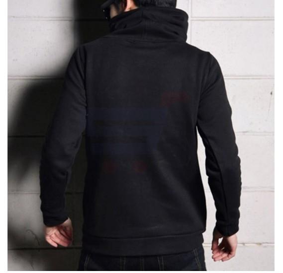 Mens Designer Turtle Hood Black - 4469 - M