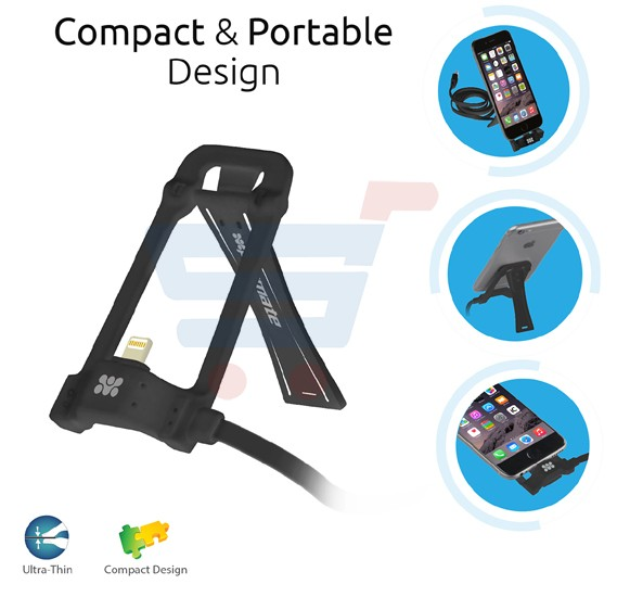 Promate Charge and Sync Dock Stand for iPhone 7 5 5S 6 6S iPhone Plus 6 6S and iPod, POSE-LT.BLACK