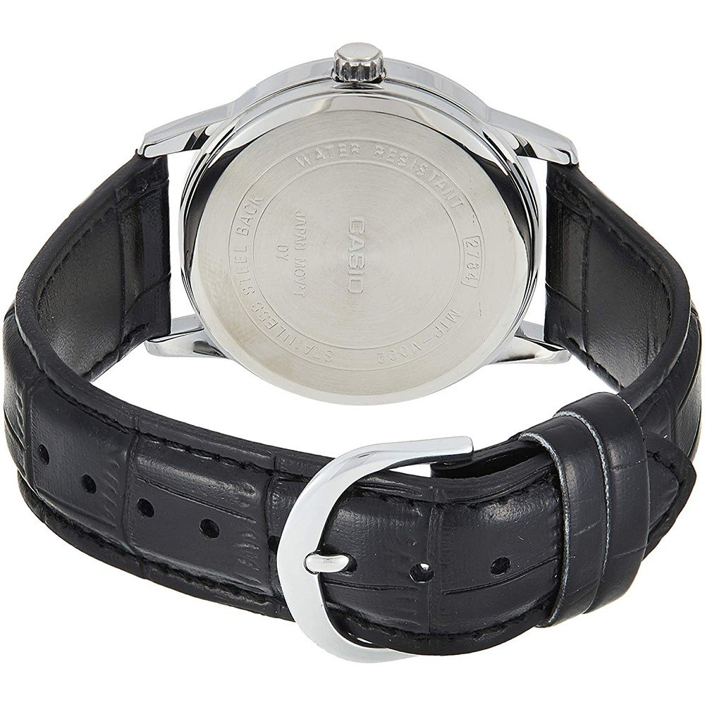 Casio Mens Analog Leather Band Watch, MTP-V002L-1BUDF