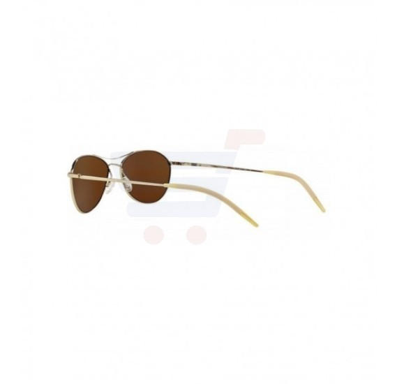 Oliver Peoples Aviator Gold Frame & Bourbon Polarized VfxMirrored Sunglasses For Unisex - OV1005S-5035N6
