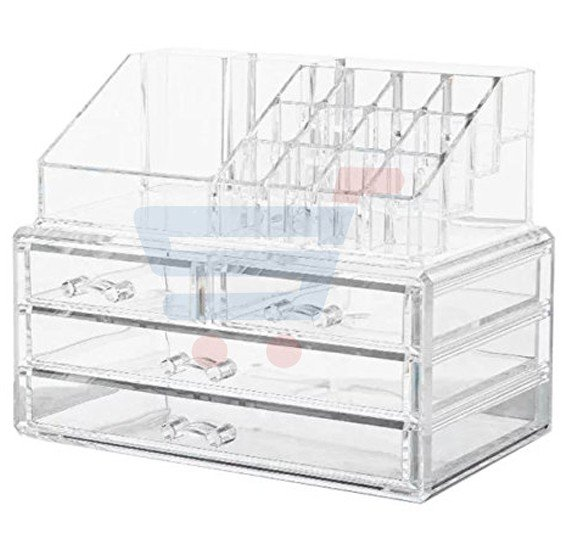 T&F Acrylic Cosmetic Organizer for Lipstick and Makeup Brush Holder For Women