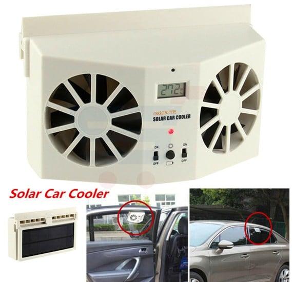 Solar Powered Auto Car Window Air Vent Ventilator Mini Air Conditioner Cool Fan