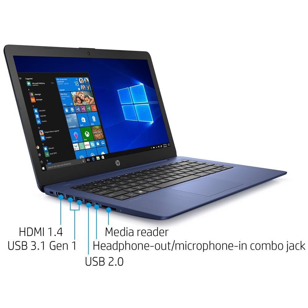 HP Stream 14 Notebook, 14 Inch Display, Celeron N4000 Processor, 4GB RAM 64GB, Win10, Blue