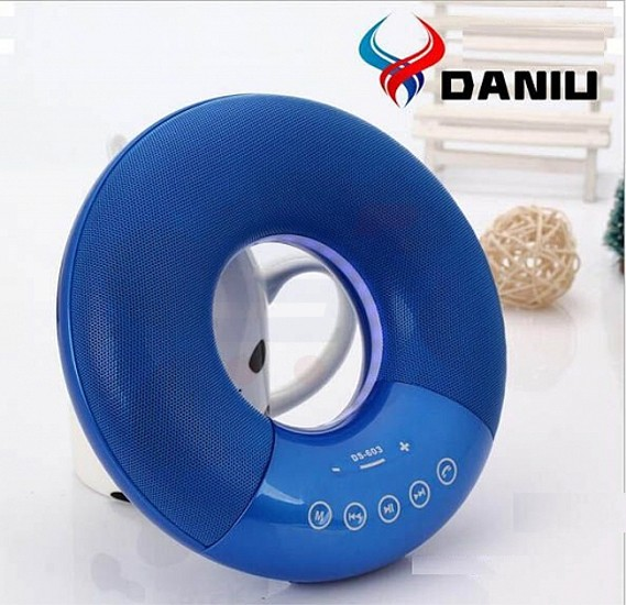 DANIU High Bass Multi-Color Wireless Bluetooth LED Speaker With FM, Aux, Micro SD & USB Support - DS603