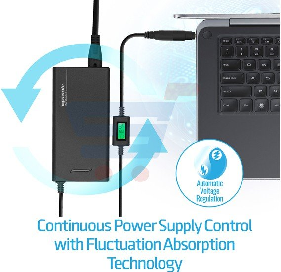 Promate Laptop Wall Charger, 70W Universal Ultra Slim Laptop Adapter for Laptops HP, Dell, ASUS and other Laptops, CHARGMATE.S