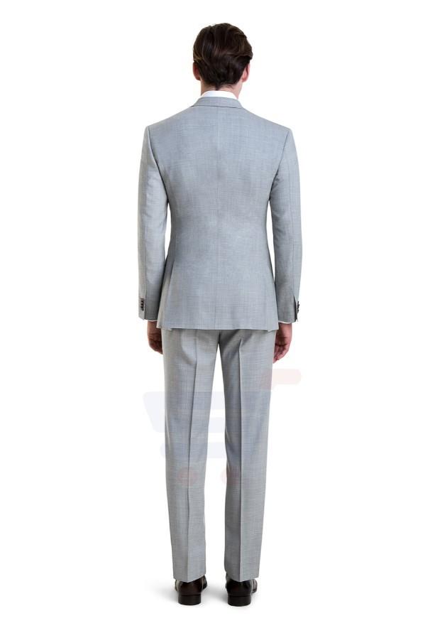D & D Light Gray Fresco Custom Suit - 55006 - L - 38