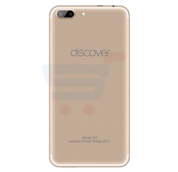Discover D7 Pro Smartphone, Android OS,5.5 Inch HD Display,Dual SIM,Dual Camera,3GB RAM,32GB Storage,Quad Core 1.5GHz Processor-Gold