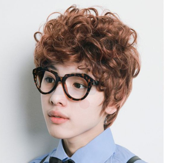 Fashion Cool Short Curly Wig, 8642