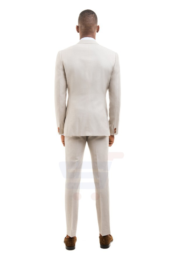D & D Khaki Linen Blend Suit Hero - 55005 - XXXL - 44