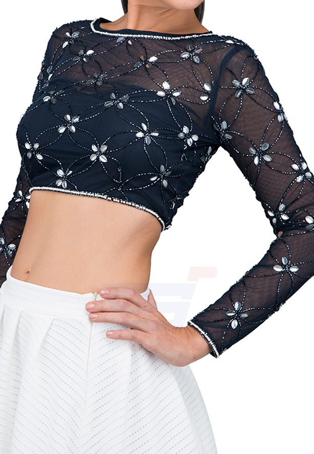 TFNC London Daisy top Body and Cropped Black - ANQ 44240 - L