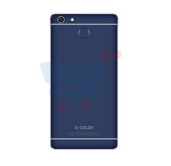 S-Color T55 Smartphone with Fingerprint Sensor, 4G LTE, Android 5.1 (Lollipop), 5inch IPS LCD Display, 2GB RAM, 16GB Storage, Quad Core, Dual SIM, Dual Camera, Wifi(Blue)