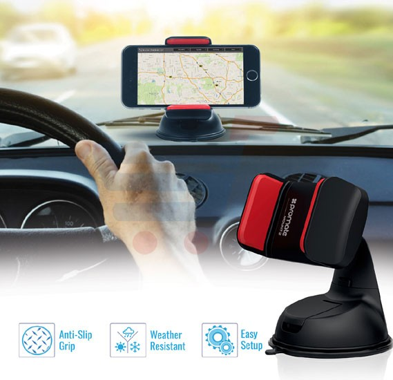 Promate Car Kit, 3-In-1 Micro-USB Car Kit, 3.1A Dual USB Universal Car Charger, Micro-USB Sync and Charge Cable with Car Mount Holder for Smartphones, Carkit-HM