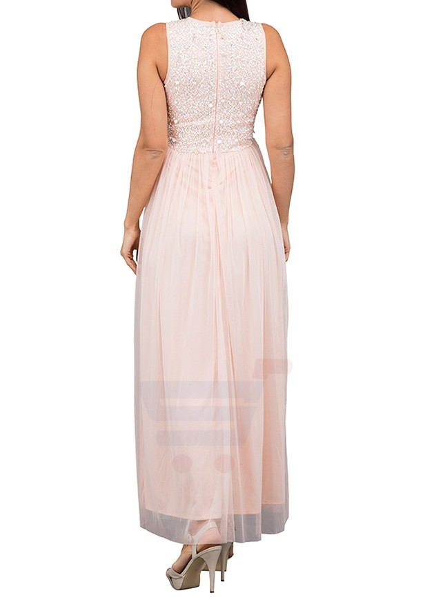 TFNC London Picasso Maxi Evening Dress Nude - LNB 23270 - XL