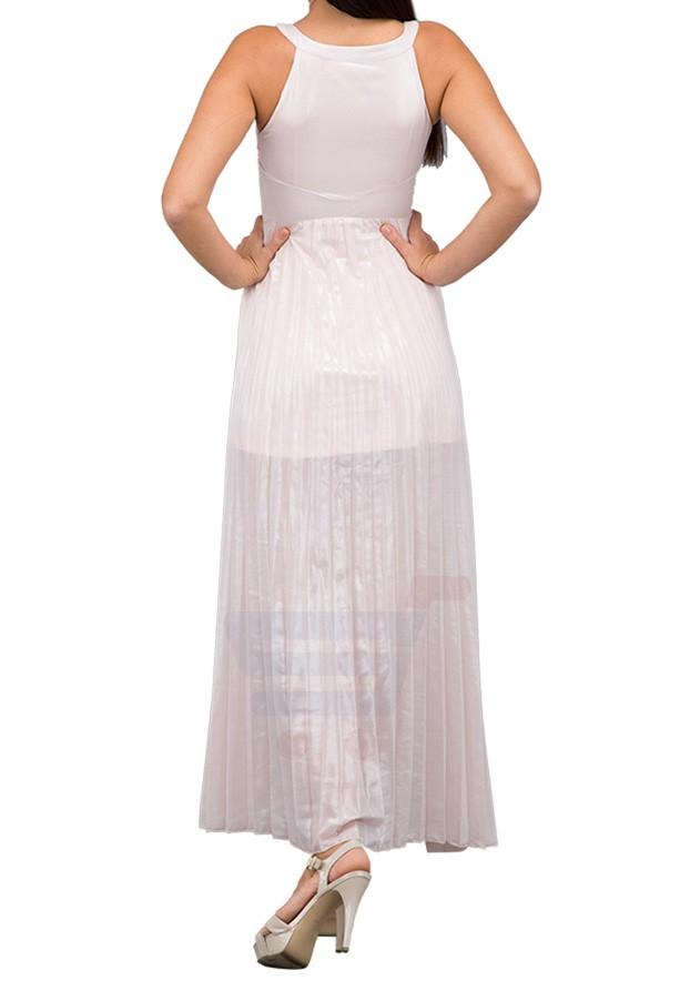 TFNC London Sherry Maxi Dress Nude - CTT 31370 - L