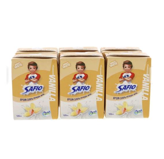 Safio UHT Milk Vanila 125 ml x 18