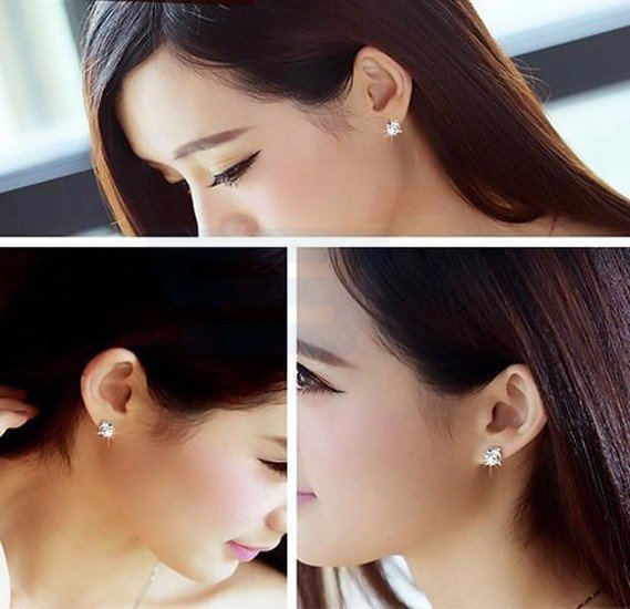 Allfie Dolphin Diamond Sliver Stud Earring For Women