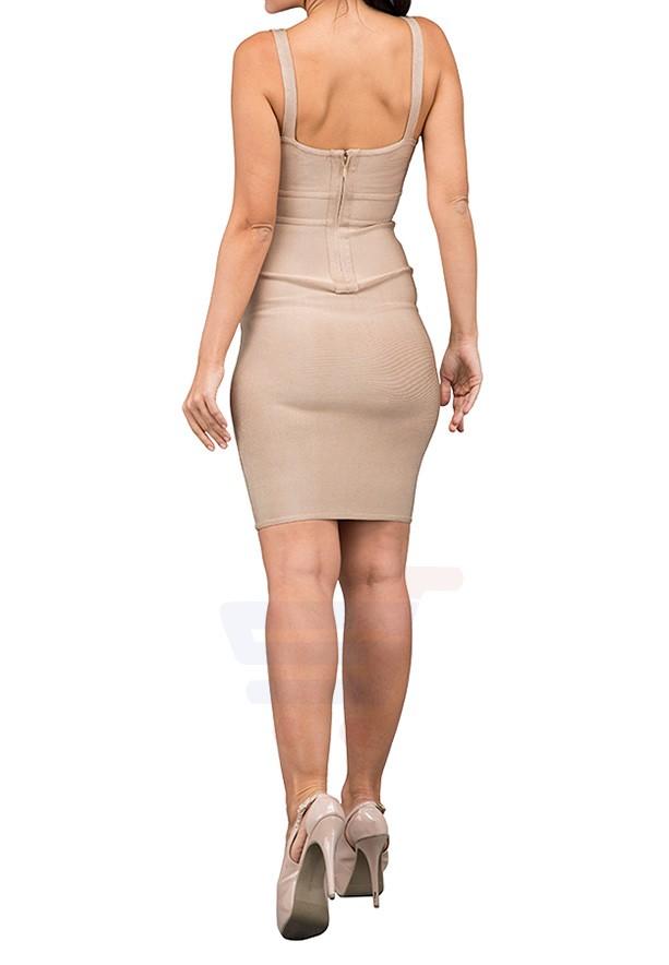 TFNC London Karolina Bodycon Casual Dress Brown - EG 7710 -L