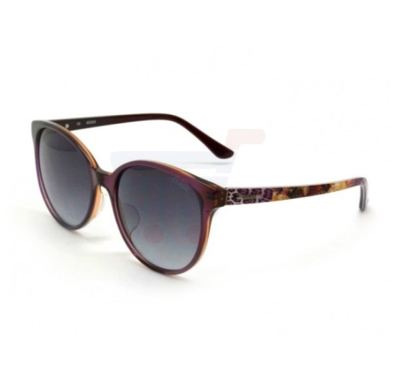 Guess Round Violet Frame & Violet Gradient Mirrored Sunglasses For Woman - GU7383-81B