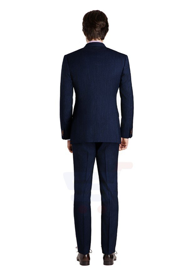 D & D Rivington Dusk Blue Double Breasted Suit Hero - 55013 - XXXL - 44