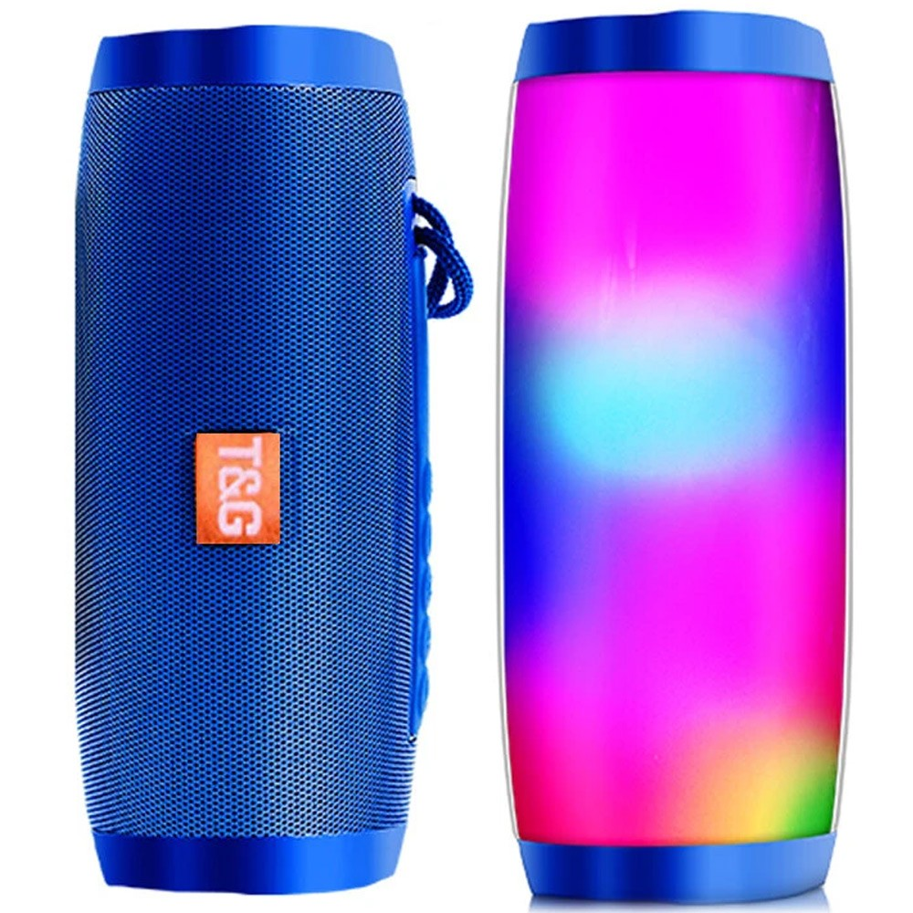 Wireless Portable Bluetooth LED Colorful Speaker, Assorted Color, TG165C