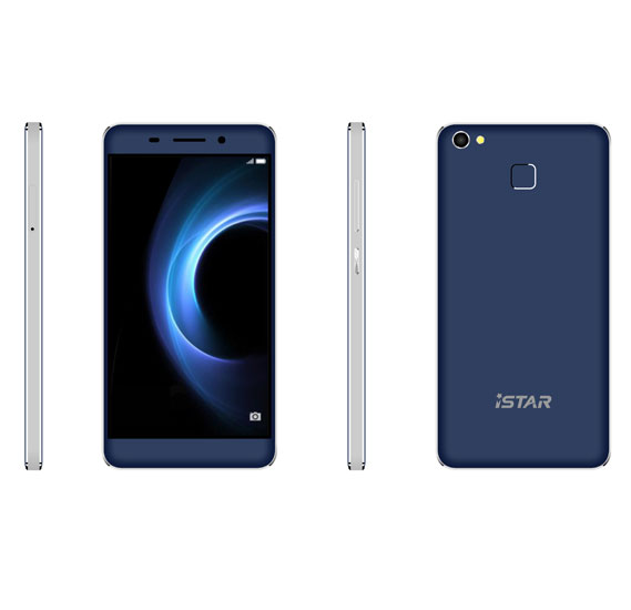 i-Star T1 Smartphone wirth Fingerprint, 4G LTE, Android 5.1, Quad Core, 5inch HD Display, 2GB RAM, 16GB Storage, Dual Camera, Dual SIM, Wifi(Blue)