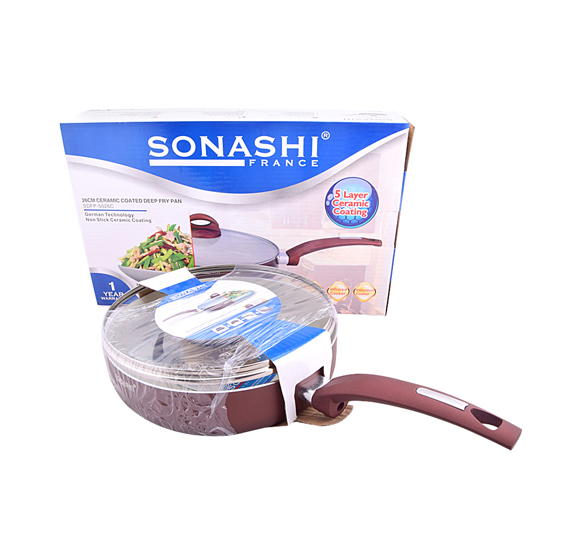 SONASHI SDFP5026C ALUMINUM CERAMIC DEEP FRY PAN 26CM