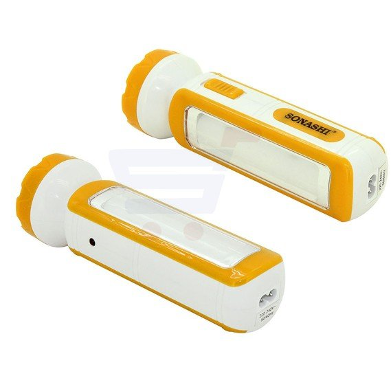 Sonashi 2 In 1 Rechargeable Led Torch With Lamp Yellow SPLT-114