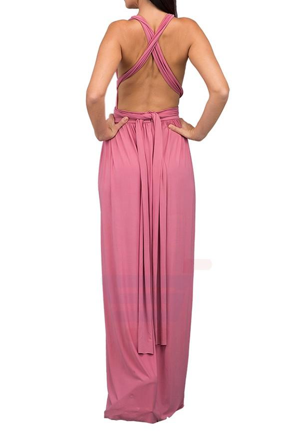 TFNC London Tall Multi Way Maxi Dress Pink - CTT 29770 - XL