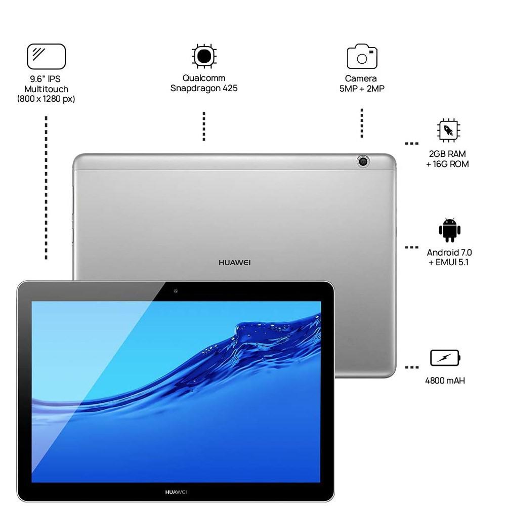 Huawei MediaPad T3 10 Inch Tablet 16GB, 2GB RAM, Wifi, Space Grey