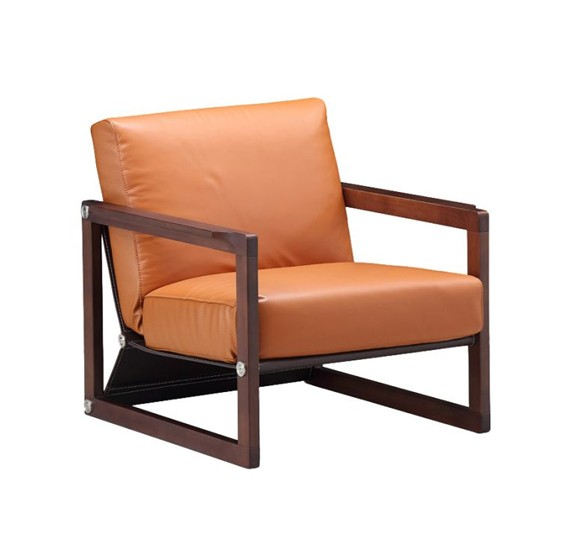 Stories Manila Leisure Chair In Walnut Finish STR13862