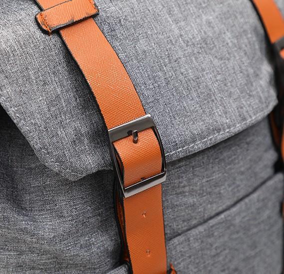 Okko Casual Backpack 18 Inch, Grey,OK33801