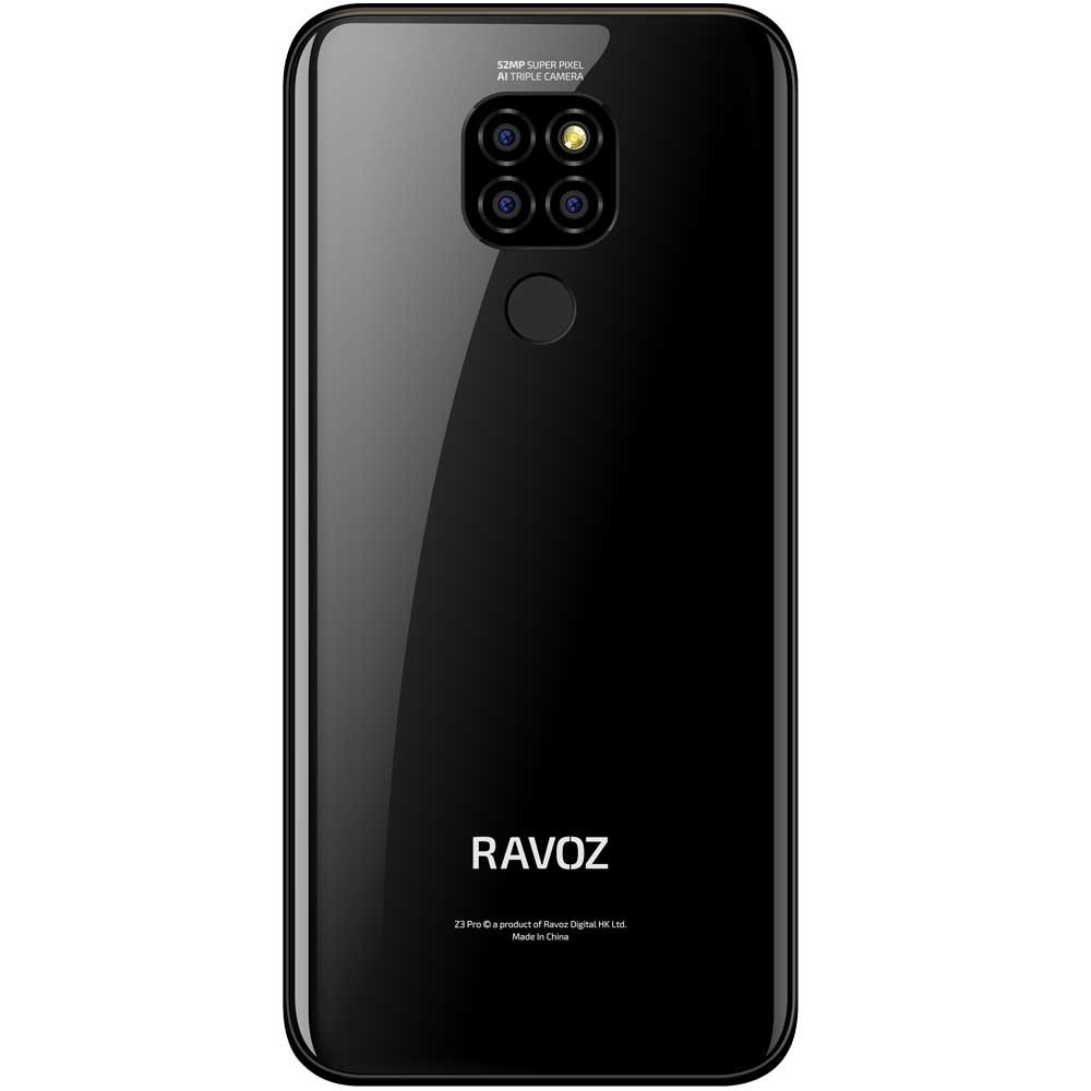 2 in 1 Bundle Pack Ravoz Z3 Pro Dual SIM Black Free With Heatz ZB90 Wireless Bluetooth